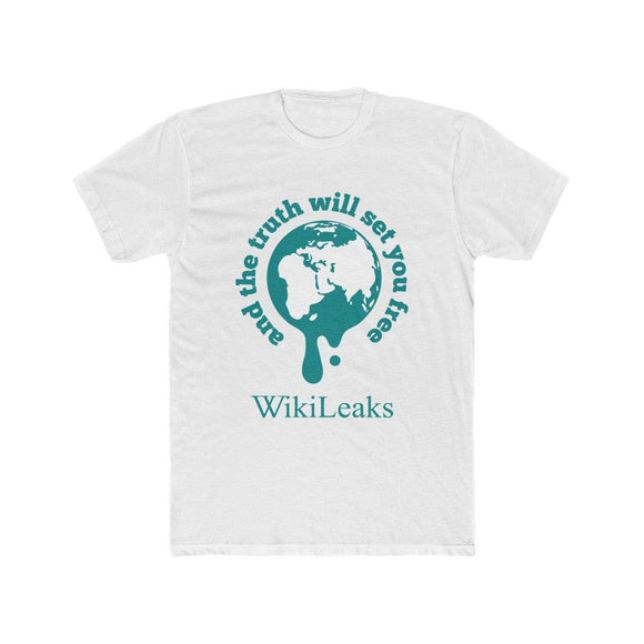WikiLeaks Supporters - And the Truth will set you Free - Premium Fitted Tee - WikiLeaks Shop