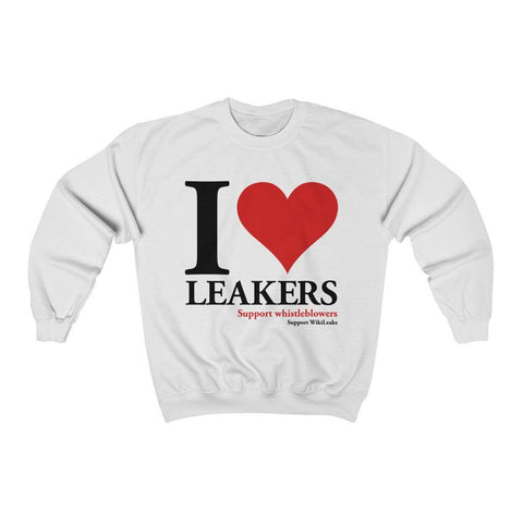I Love Leakers - Unisex Crewneck Sweatshirt - WikiLeaks Shop