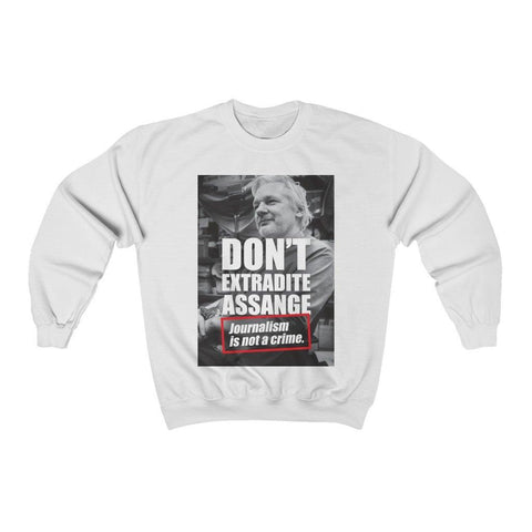 Don't Extradite Assange - Journalism is Not a Crime - Unisex Crewneck Sweatshirt - WikiLeaks Shop