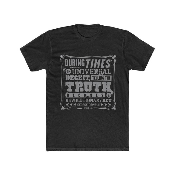 Orwell Quote - Revolutionary Act - Premium Fitted Tee - WikiLeaks Shop