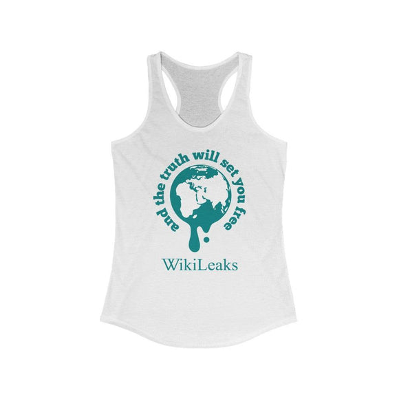 WikiLeaks Supporters - And the Truth will set you Free - Women's Ideal Racerback Tank - WikiLeaks Shop