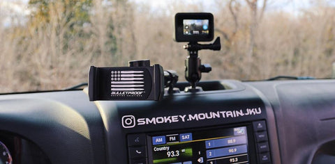 Bulletproof Jeep Wrangler JK Phone Mount and GoPro Mount