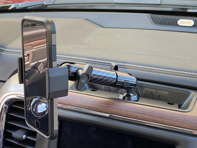 Metal Series RAM Truck 2013-2018 Universal Dash Phone Mount with Single 20mm Ball (Classic Dash Style)