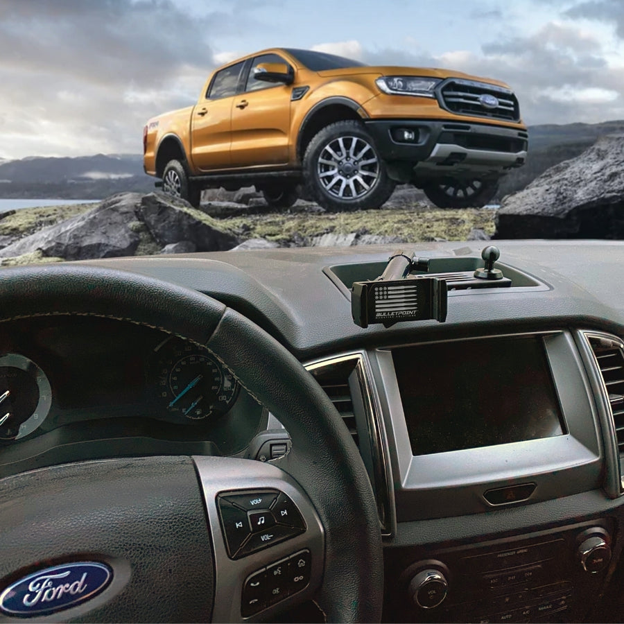 Ford Ranger Phone Mount & Multi-Device Dash Platform - 5th Gen 2019+