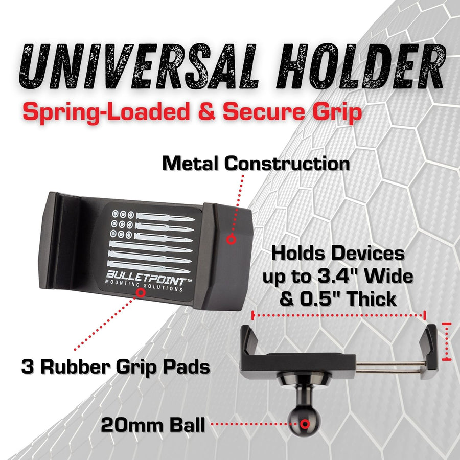 Metal Series RAM Truck 2019+ Universal Dual 20mm Ball Dash Phone Mount - One Universal Holder (New Dash Style)