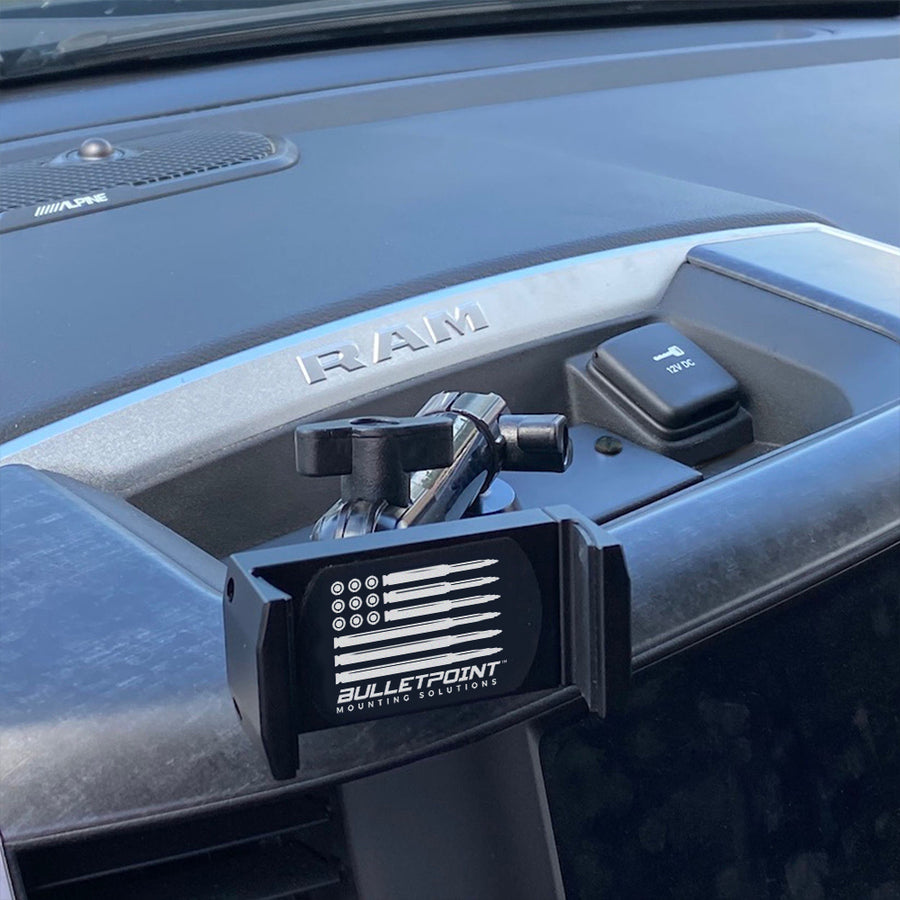 Metal Series RAM Truck 2019+ Universal Single 20mm Ball Dash Phone Mount (New Dash Style)