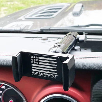 JEEP WRANGLER JL/JLU + GLADIATOR JT UNIVERSAL DRIVER SIDE JEEP PHONE MOUNT (2018-2021)