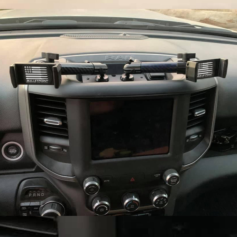 Metal Series RAM Truck 2019+ Universal Dual 20mm Ball Dash Phone Mount (New Dash Style)