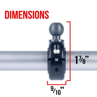 Bar Clamp with 20mm ball compatible with Vector Bar