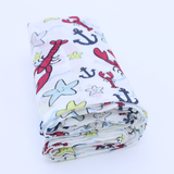 One Little Lobster Muslin Swaddle