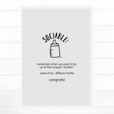 Sociable! Baby Shower Greeting Card