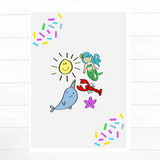 One Little Lobster Crew Greeting Card