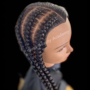 """Pop Smoke"" Feed-in Braids"