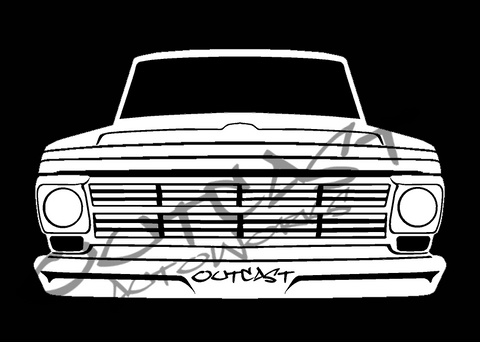 Outcast AutoWorks 1968 Ford F-100 Vinyl Decal