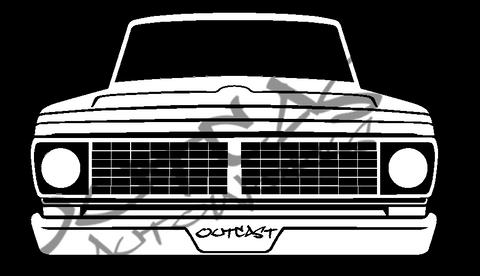 1970 Ford F-100 Vinyl Decal