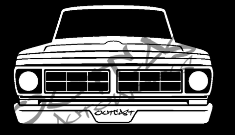 1971 Ford F-100 Vinyl Decal