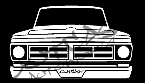 1972 Ford F-100 Vinyl Decal
