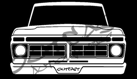 Outcast AutoWorks LLC 1976/77 Ford F-100 Vinyl Decal