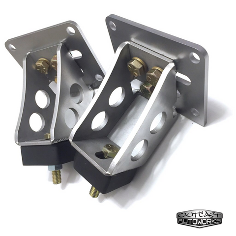 Chevy LS 4.8/5.3/6.0 v8 to Crown Victoria IFS Swap Adjustable Motor Mounts for Ford F-series F-100/F-150/F-250.