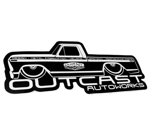 "Outcast AutoWorks 8"" Shop Truck Die Cut Decal"