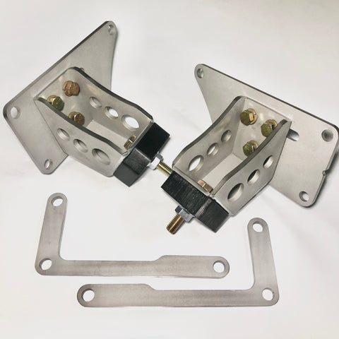 Adjustable Modular V8 4.6/5.0 Coyote/5.4 Poly Motor Mount Set For 03-11 Crown Vic Swapped F-100/F-series Trucks