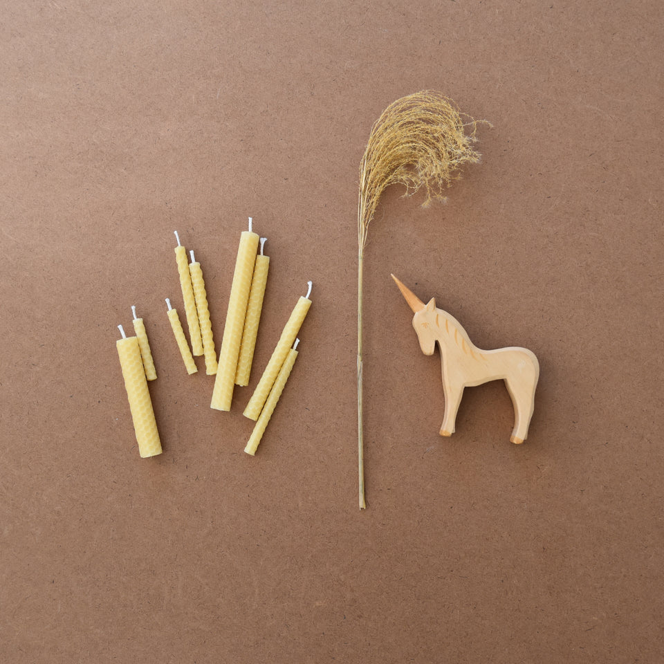BEESWAX CANDLE ROLLING KIT with decorative wax