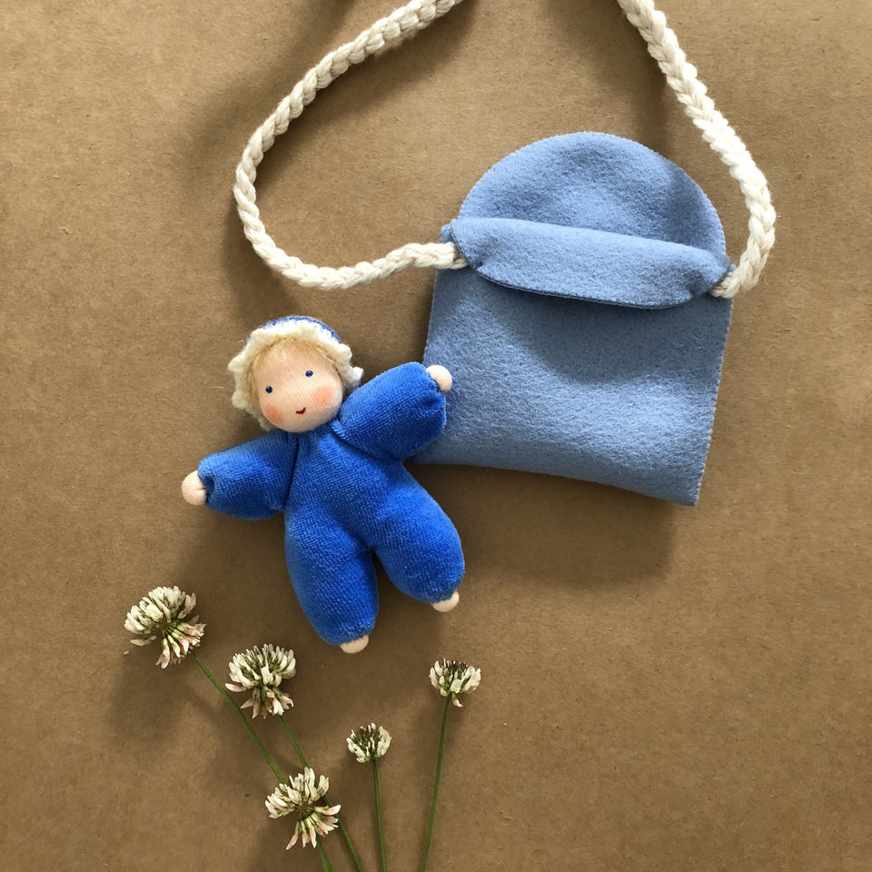 BABY IN PURSE ~ BLUE