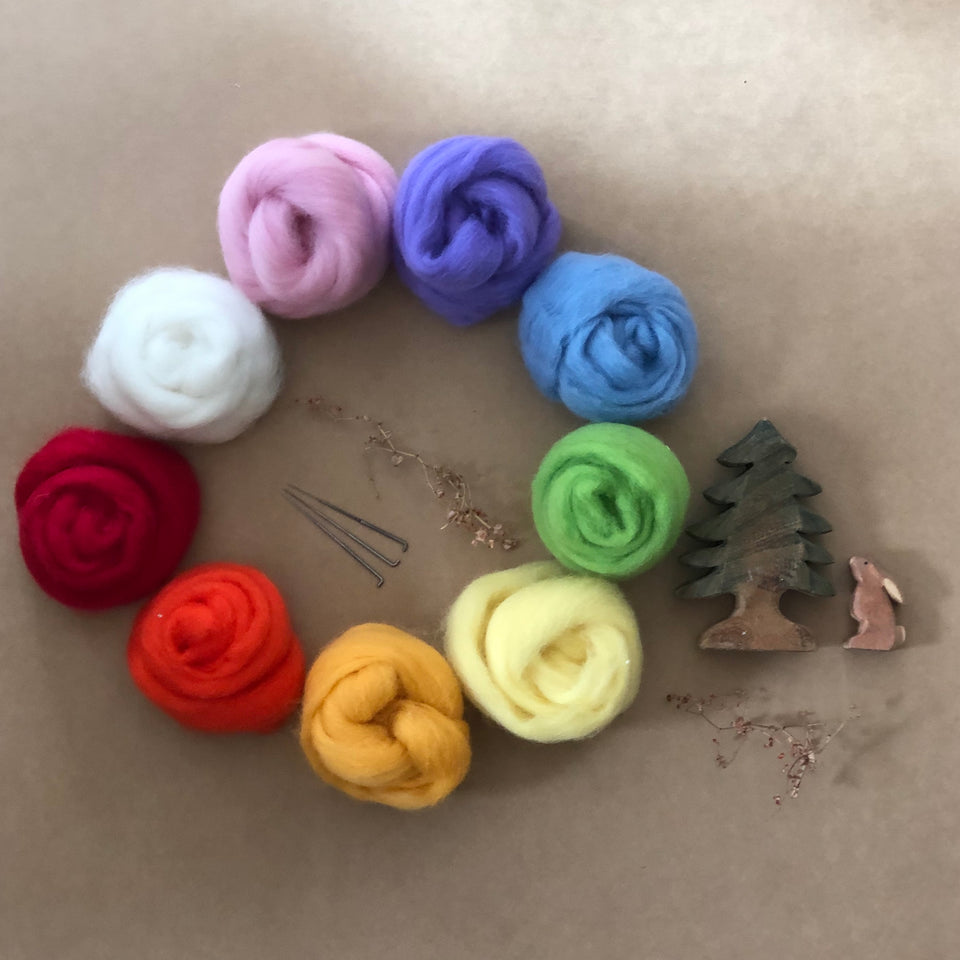 CHILDS NEEDLE FELTING KIT ~ RAINBOW