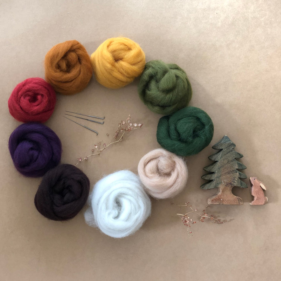 CHILDS NEEDLE FELTING KIT ~ EARTH RAINBOW