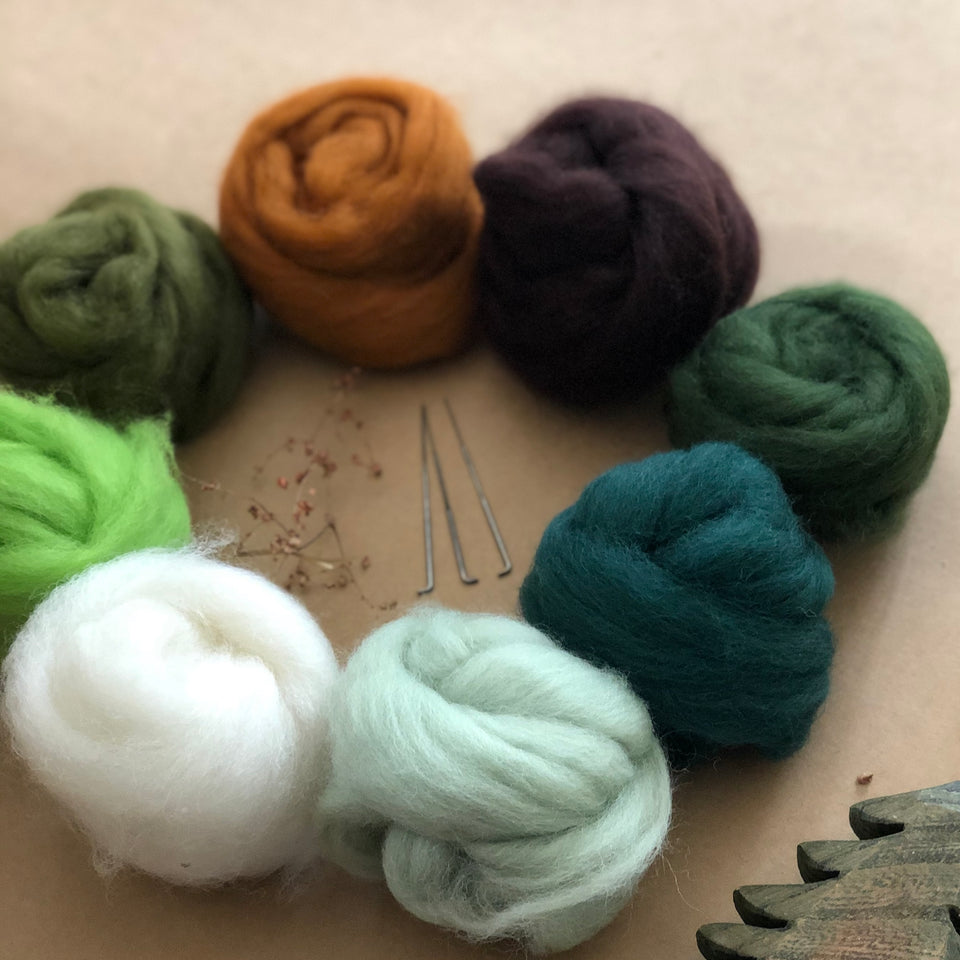 CHILDS NEEDLE FELTING KIT ~ FOREST