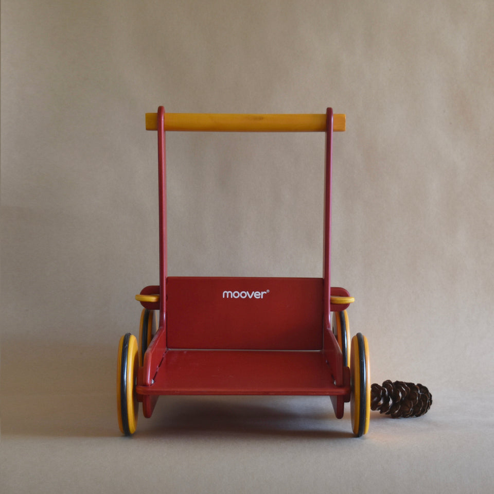WOODEN BABY WALKER ~ RED