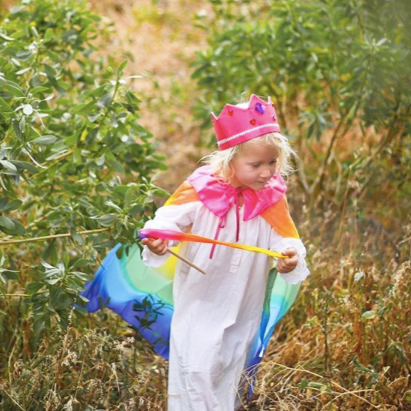 SILK CAPE ~ RAINBOW ~ SARAH'S SILKS