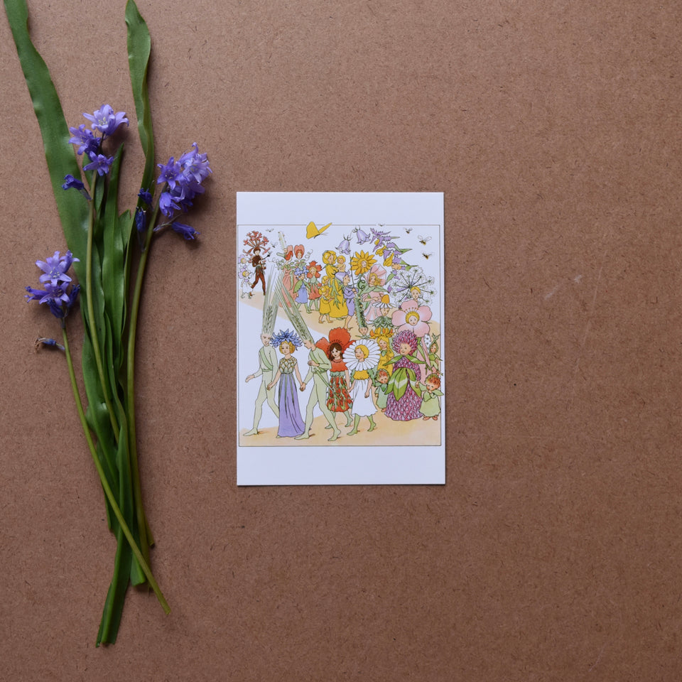 ELSA BESKOW ~ POSTCARD ~ THE FLOWERS FESTIVAL