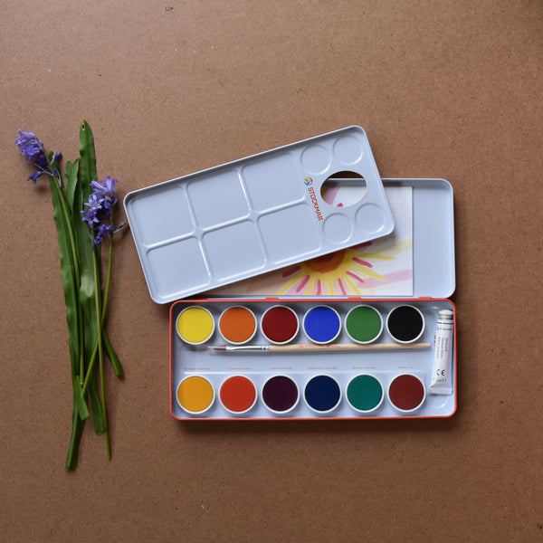 STOCKMAR PAINT PALETTE ~ 12 COLOURS