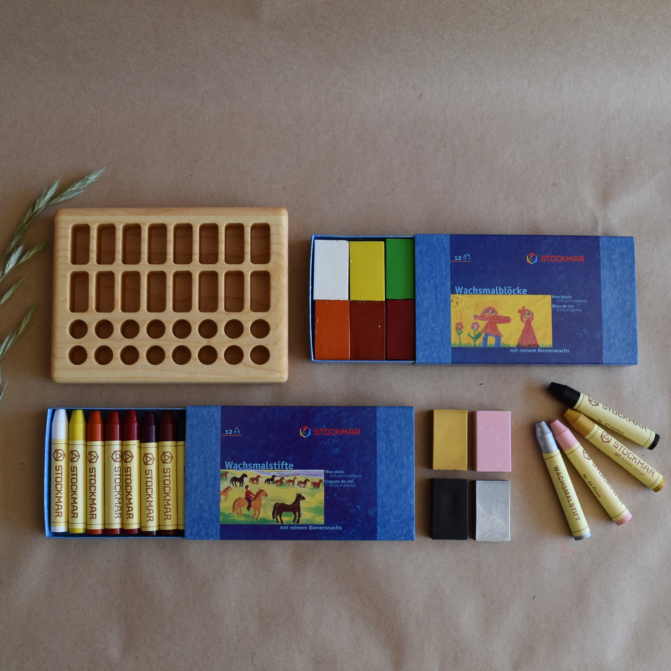 CRAYON SET ~ 16 BLOCKS + 16 THINS ~32 SPACES