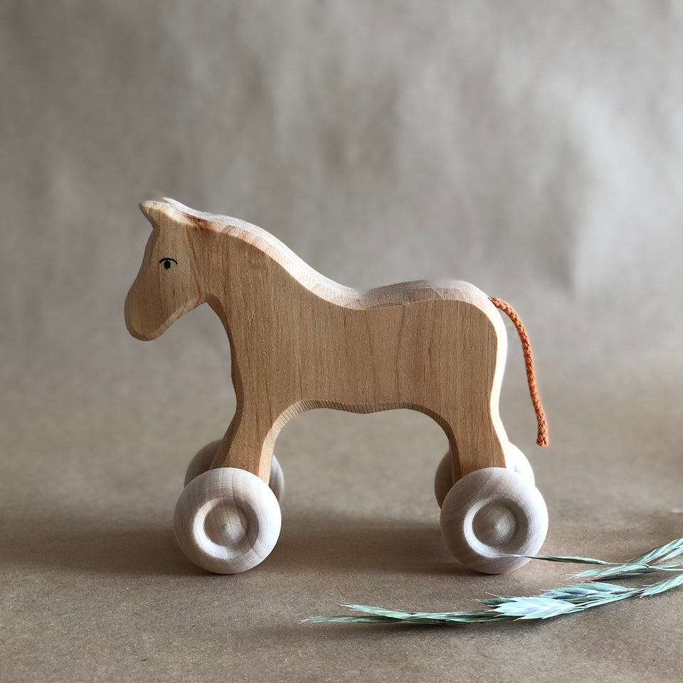 WOODEN HORSE ~ SMALL ~ GRIMMS