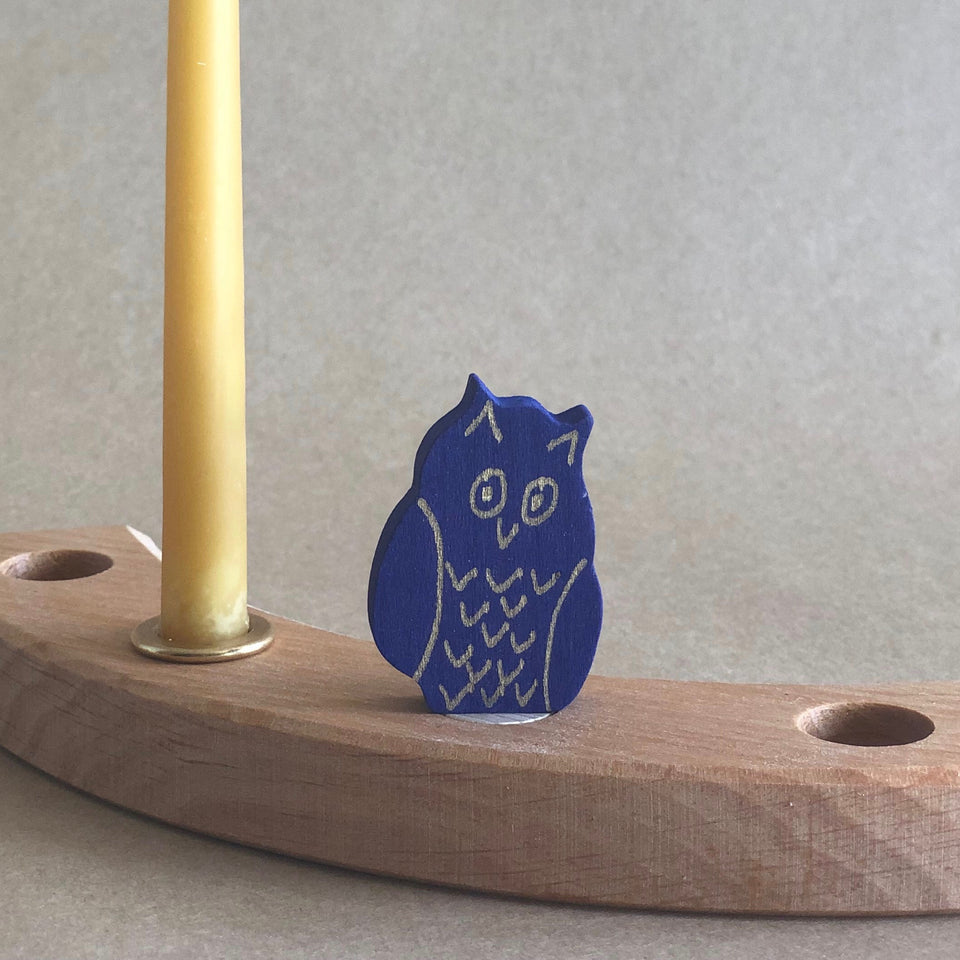 PURPLE OWL  ~ CELEBRATION RING DECORATION ~ GRIMMS