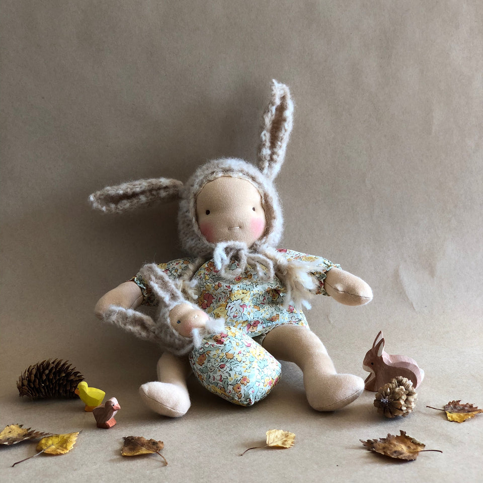 BUNNY ROSE ~ LONG LIMBED WALDORF DOLL ~ 31 cm