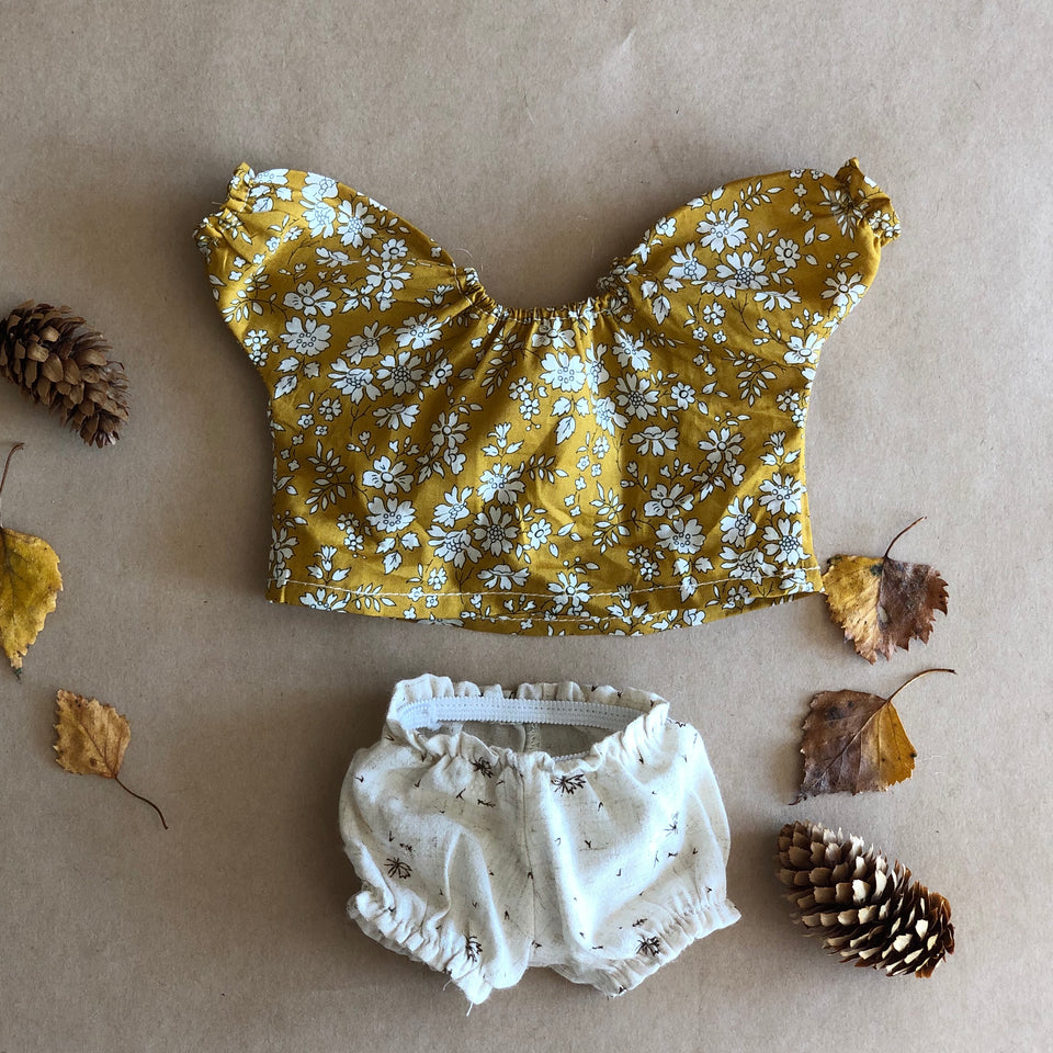 DOLLS BLOUSE & BLOOMERS buttercup