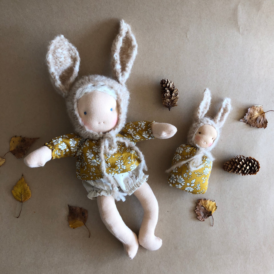 BUNNY BUTTERCUP ~ LONG LIMBED WALDORF DOLL ~ 27 cm