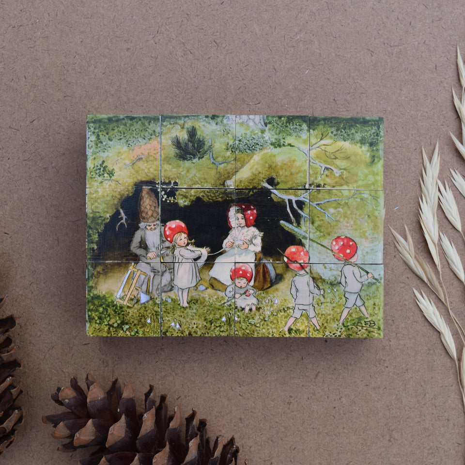 ELSA BESKOW ~  CHILDREN OF THE FOREST CUBE PUZZLE~