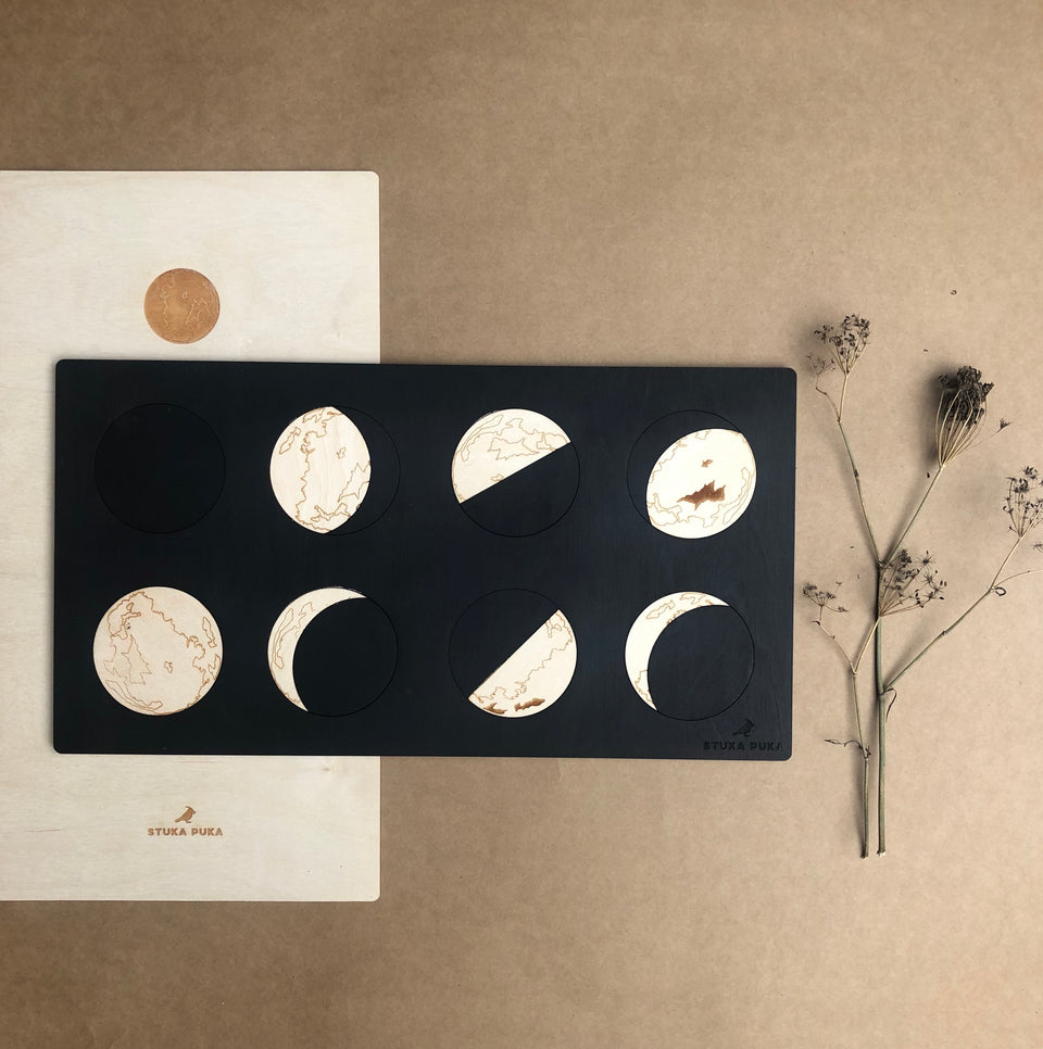 PHASES OF THE MOON PUZZLE ~ STUKA PUKA