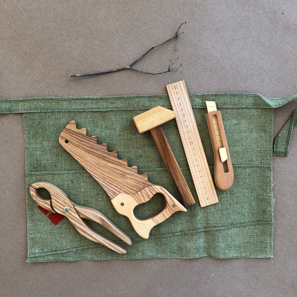 WOODEN TOOL SET ~ SMALL