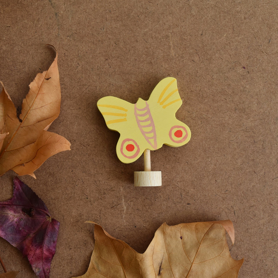 YELLOW BUTTERFLY ~ CELEBRATION RING DECORATION ~ GRIMMS