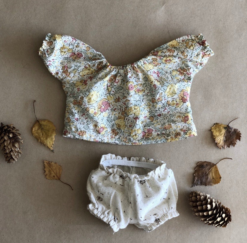 DOLLS BLOUSE & BLOOMERS Rose