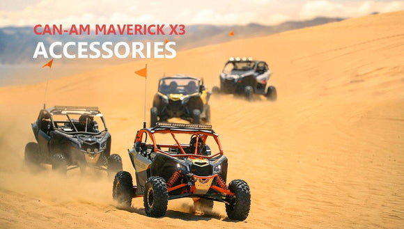 Top10 Can-Am Maverick X3 decent accessories from Kemimoto!