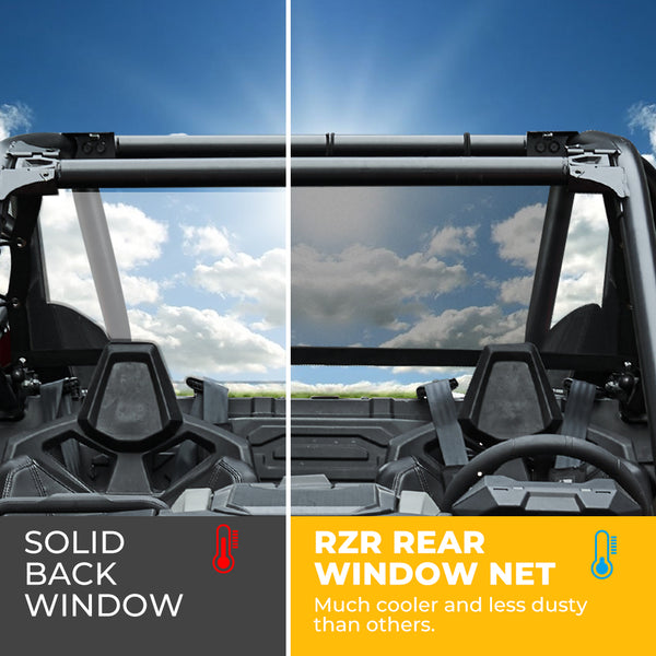 Polaris RZR PRO XP Soft Rear Window Net Mesh Sun UV Protection 2020 - Kemimoto