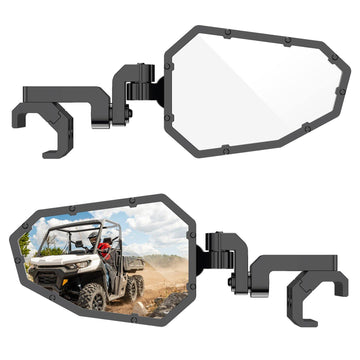 UTV Aluminum Side Mirrors with Pro-Fit Cage and Windshield (Ranger, General)