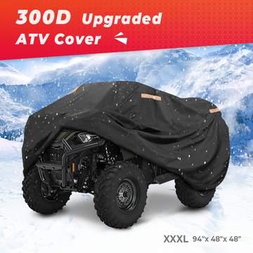 300D OXFORD Fabric 4 Reflective Strip Black ATV Cover L17997