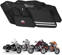 Street Glide Saddlebag Organizers, 2 Pack for 2014-2020 Harley Road King Road Glide Electra Glide - Kemimoto